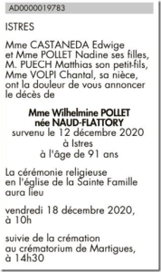 mme Whilelmine Pollet